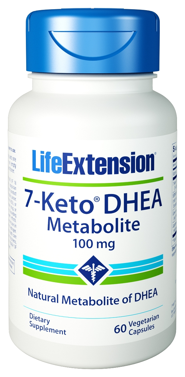 7-Keto DHEA Metabolite 100 mg 60 Vegetarian Caps by Life Extension