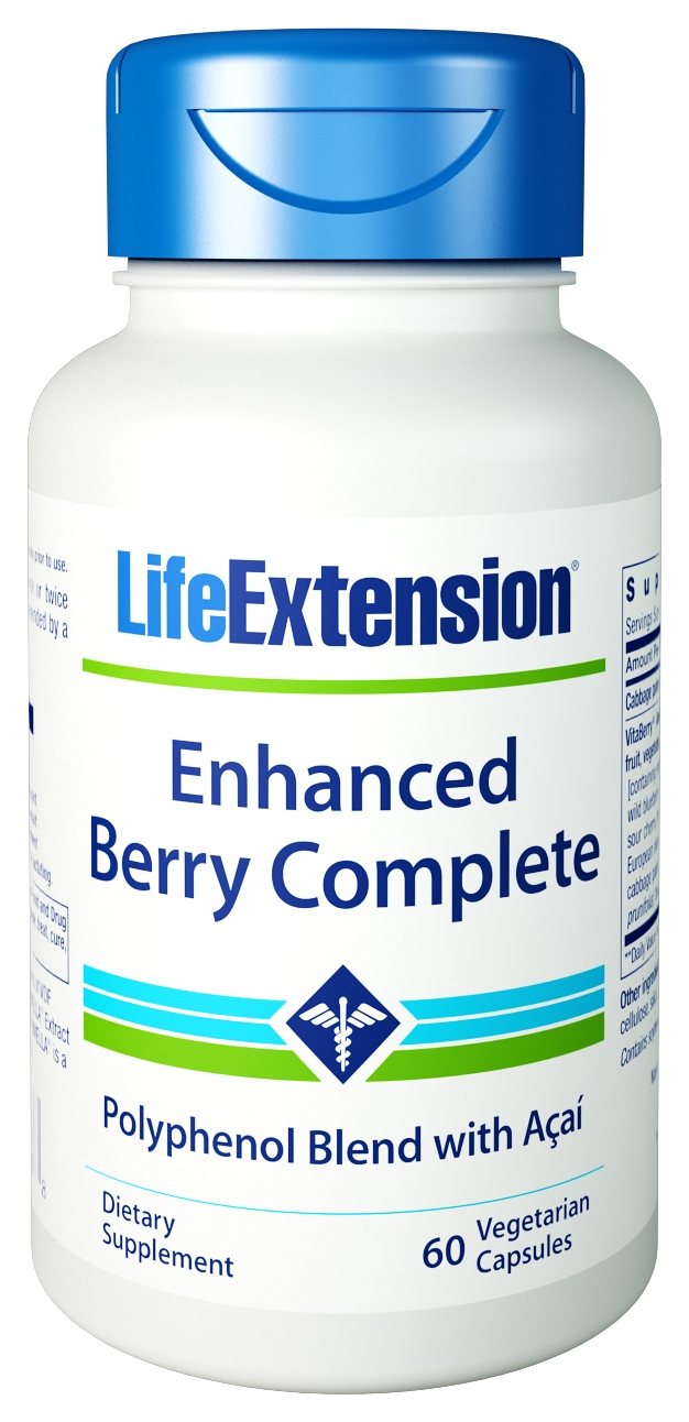 Enhanced Berry Complete with Acai 60 Vegetarian caps by Life Extension