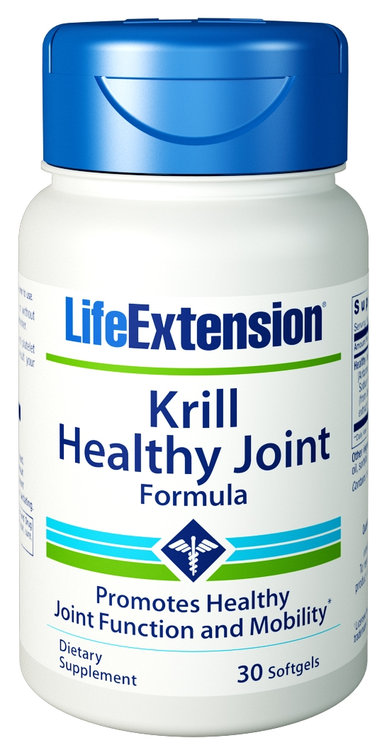 Krill Healthy Joint Formula 30 sgels by Life Extension