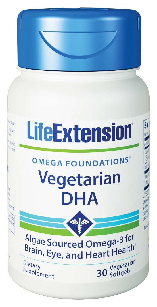 Vegetarian Sourced DHA 30 Vegetarian Softgels by Life Extension