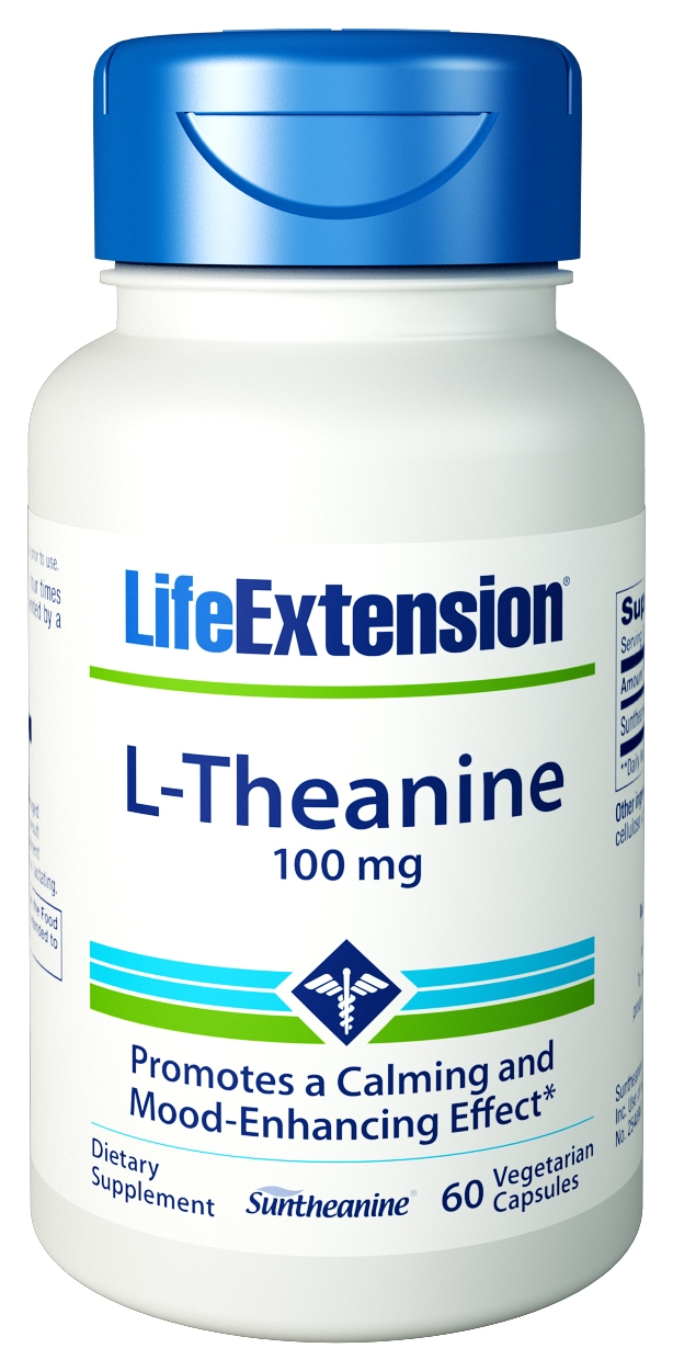 L-Theanine 100 mg 60 Vegetarian Caps by Life Extension