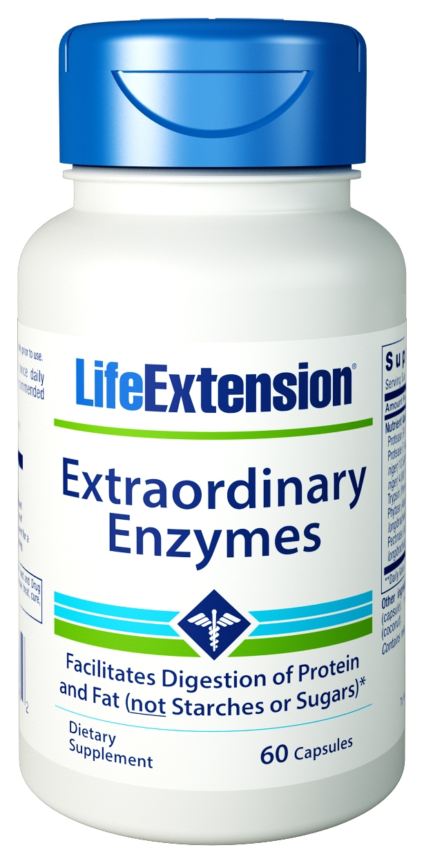 Extraordinary Enzymes 60 caps by Life Extension