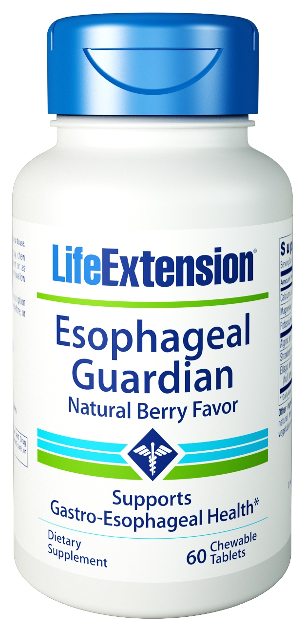 Esophageal Guardian Natural Berry Flavor 60 Chewable tabs by Life Extension