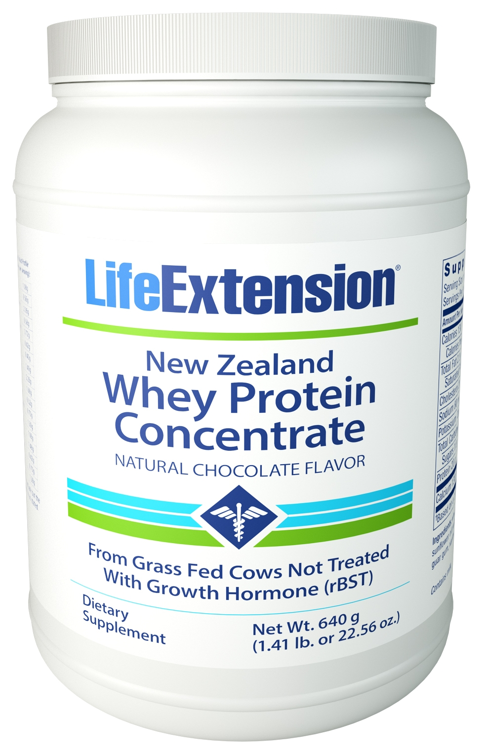 New Zealand Whey Protein Concentrate Natural Chocolate 660 g (1.45 lb) Life Extension