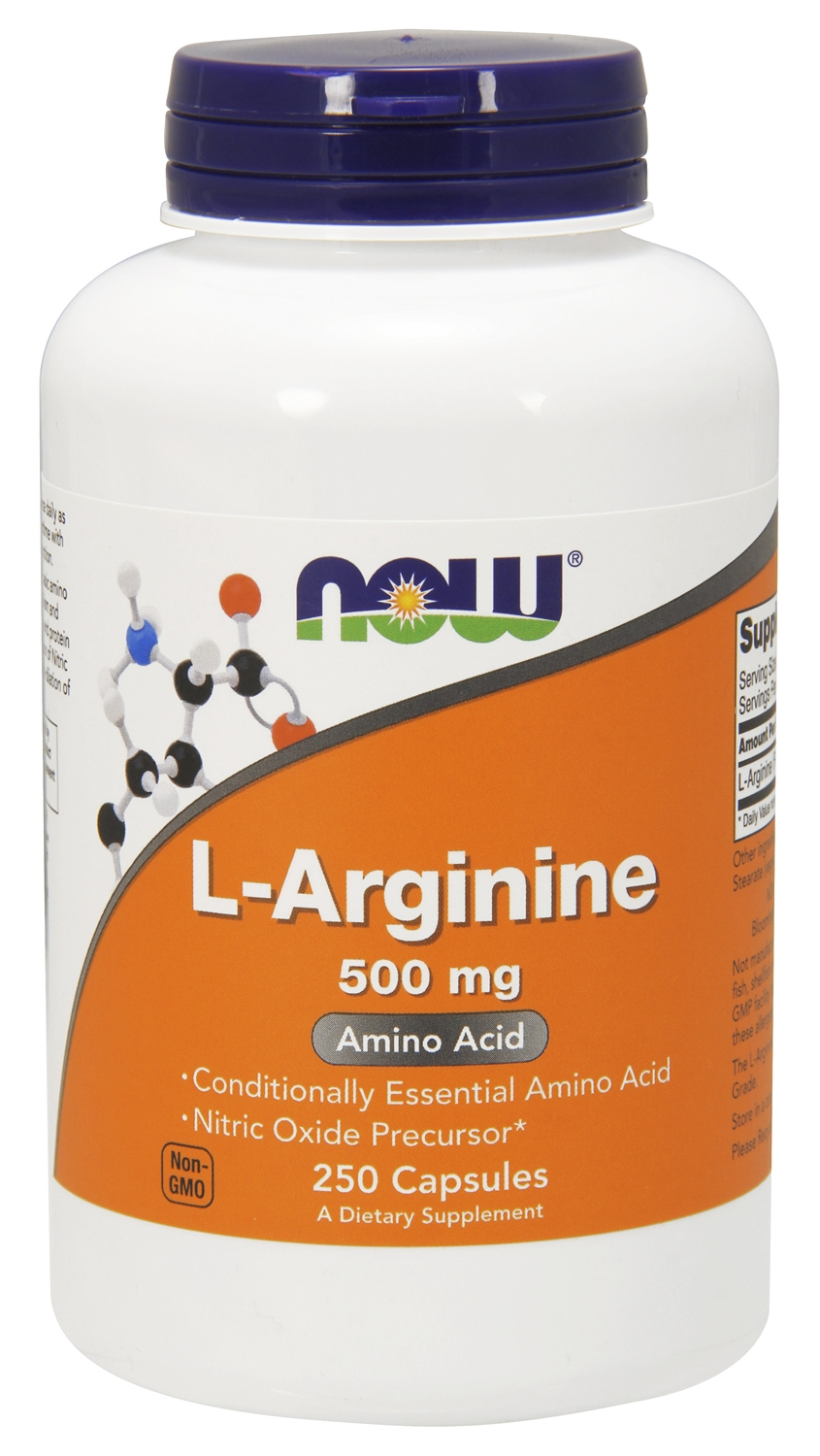 L-Arginine 500 mg 250 caps by NOW