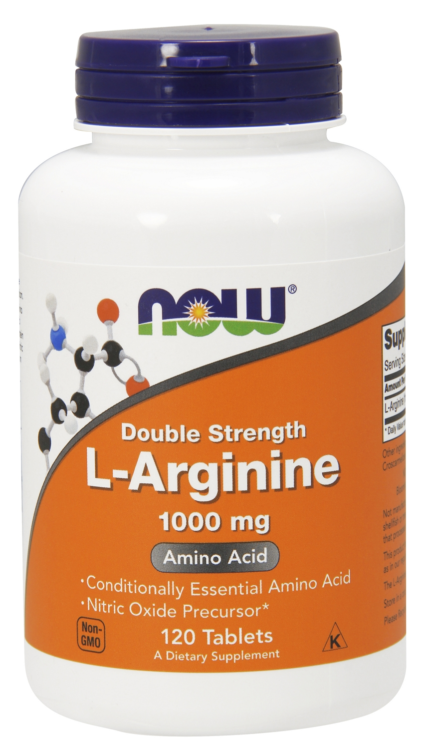 L-Arginine 1000 mg 120 tabs by NOW
