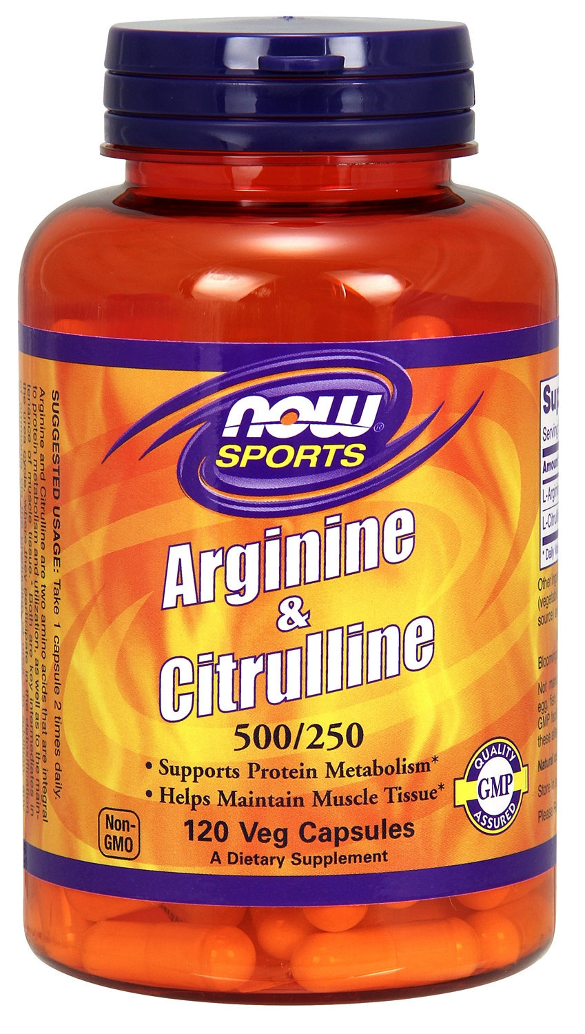 Arginine & Citrulline 500/250 120 caps by NOW