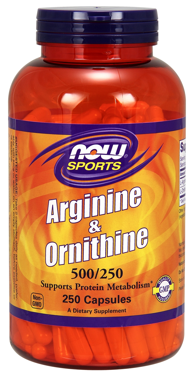 Arginine & Ornithine 500/250 250 caps by NOW
