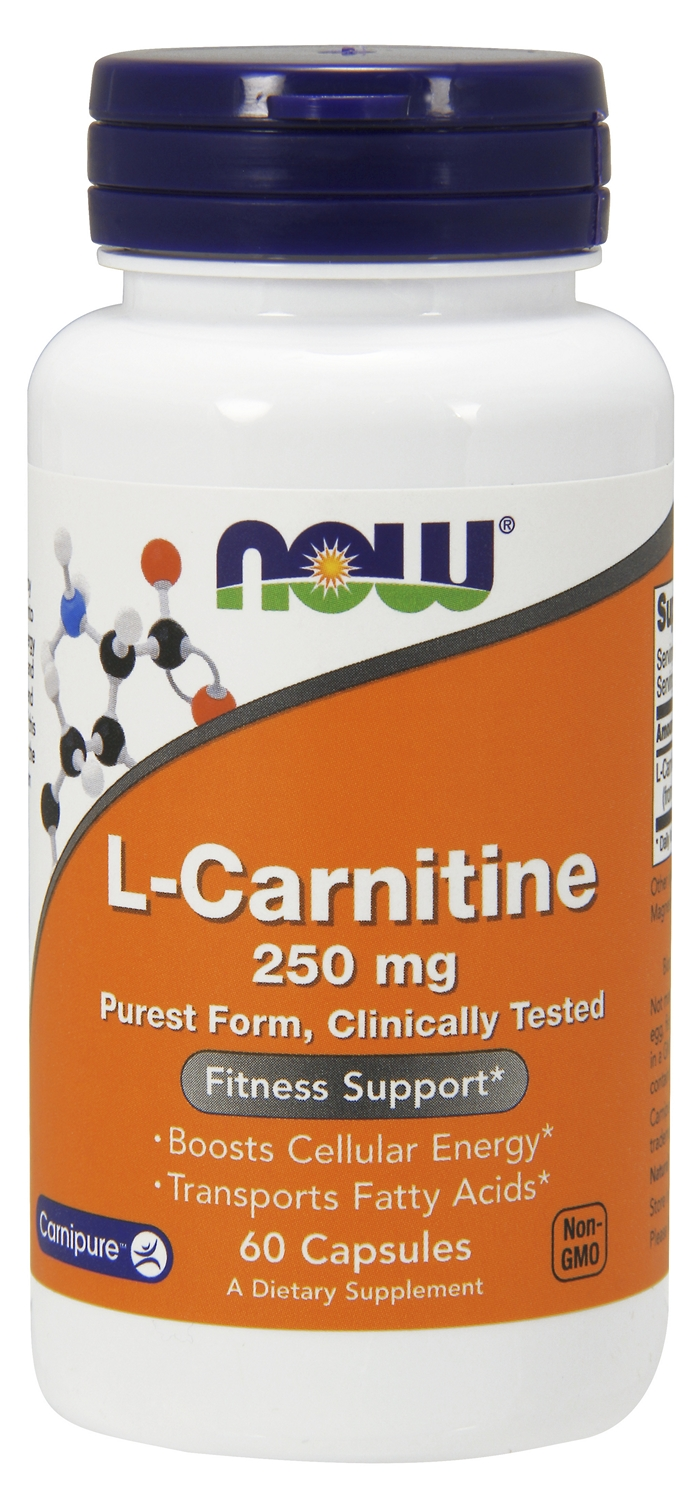 L-Carnitine 250 mg 60 caps by NOW