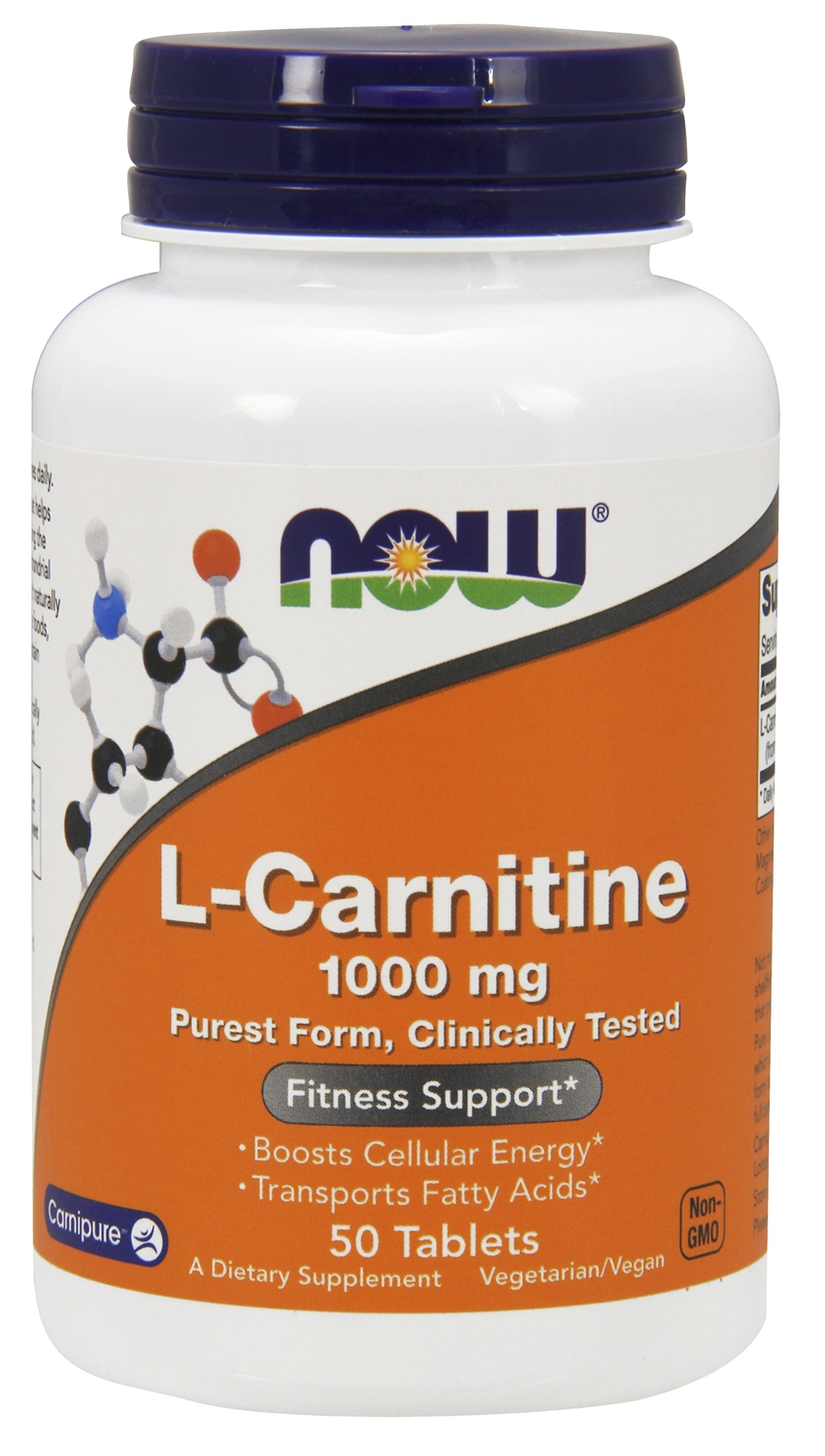 L-Carnitine 1000 mg 50 tabs by NOW