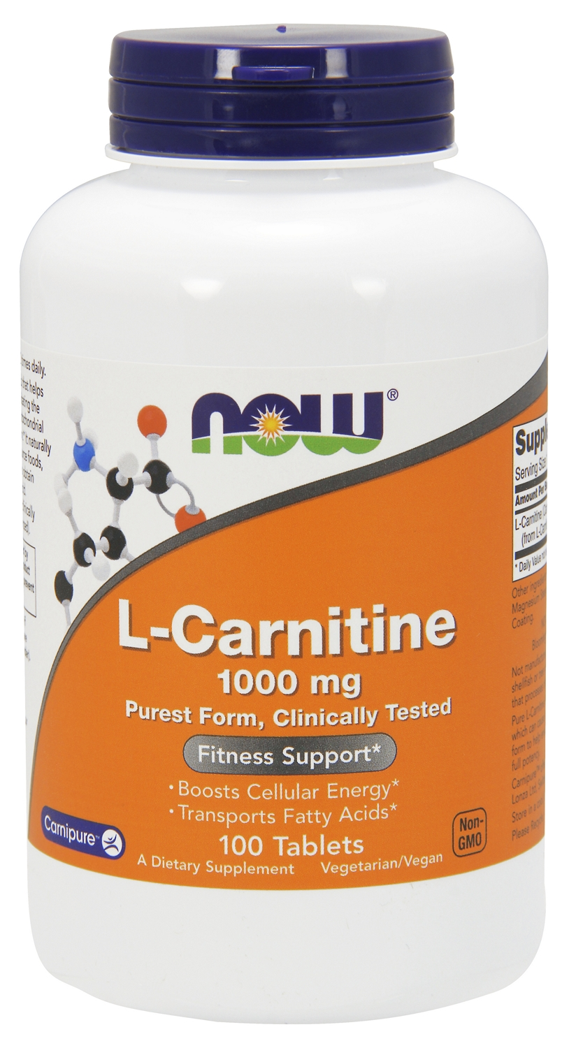 L-Carnitine 1000 mg 100 tabs by NOW