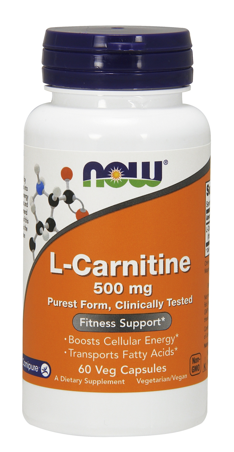 L-Carnitine 500 mg 60 caps by NOW