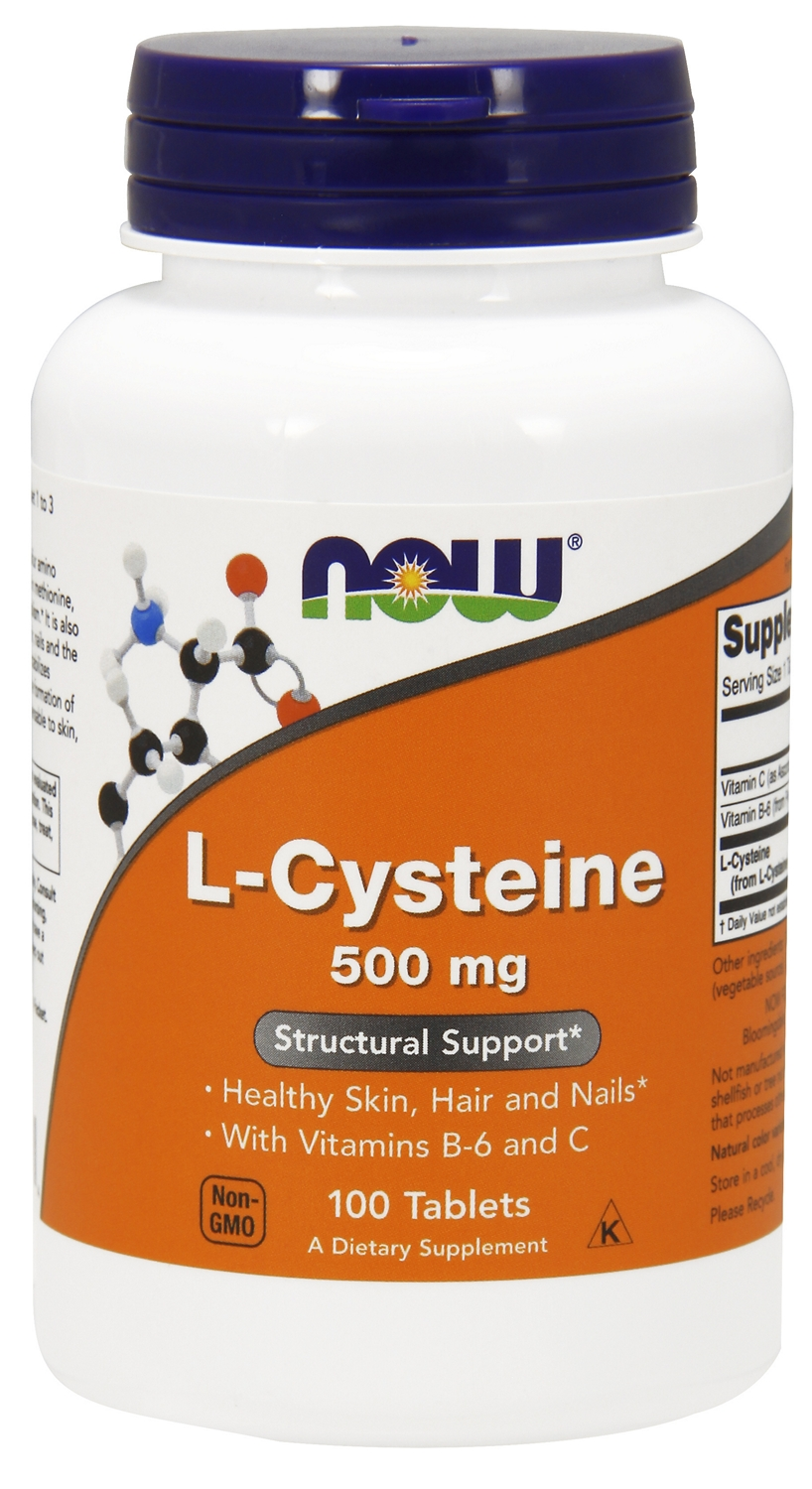 L-Cysteine 500 mg 100 tabs by NOW