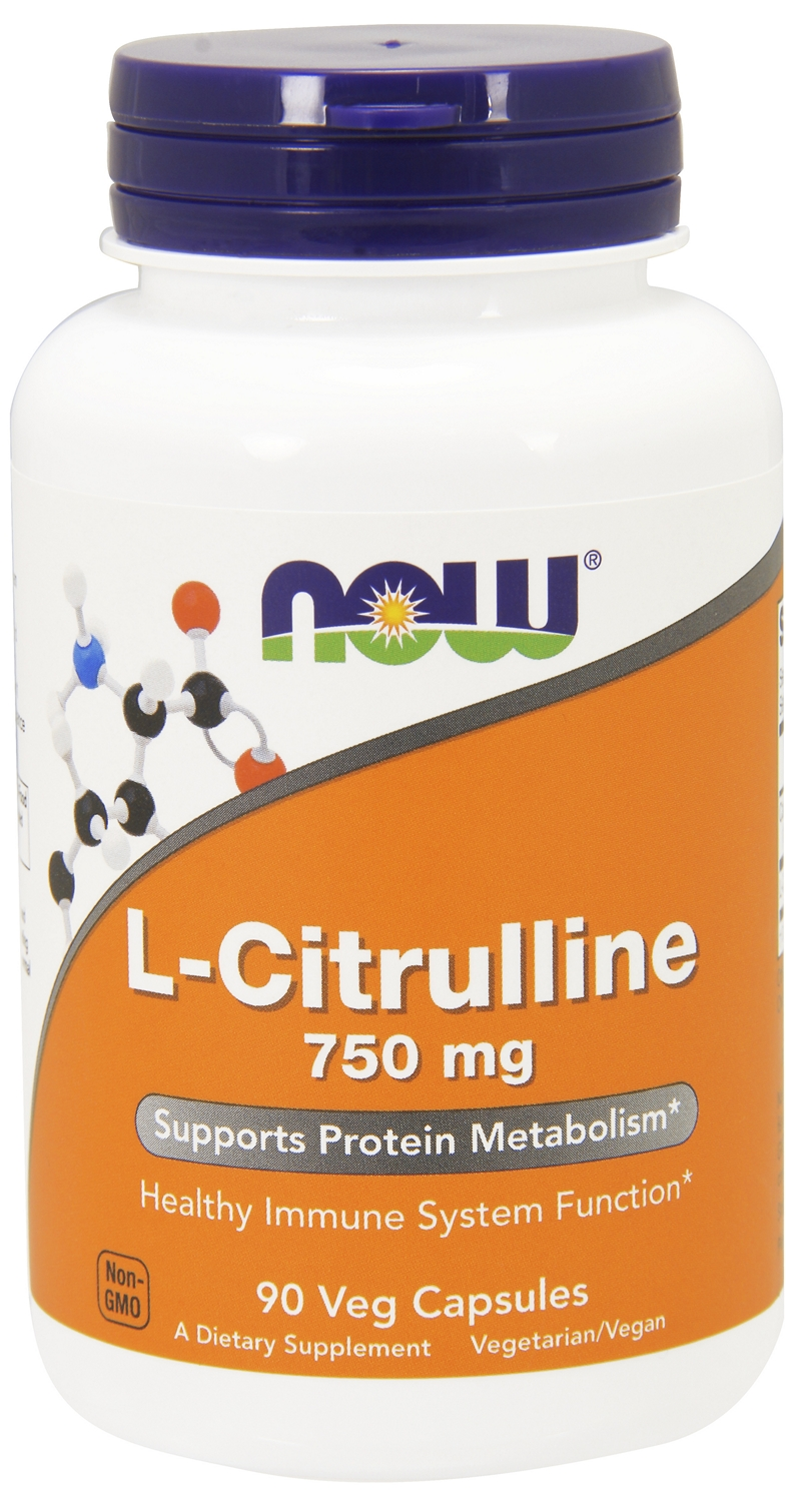 L-Citrulline 750 mg 90 caps by NOW
