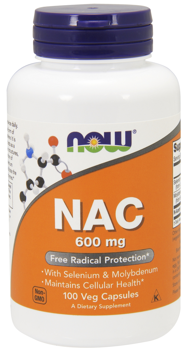 NAC (N-Acetyl Cysteine) 600 mg 100 Veg Caps by NOW