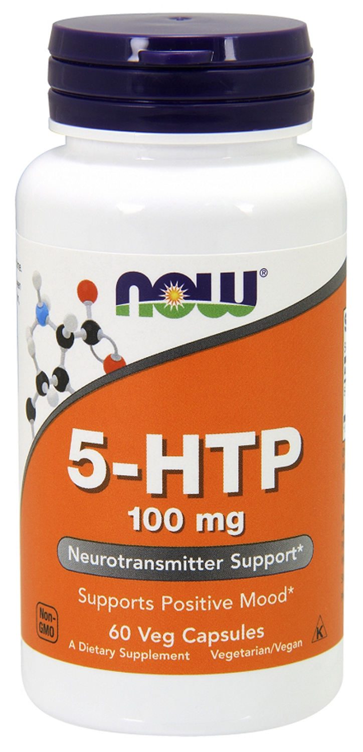 5-HTP 100 mg 60 Vcaps by NOW