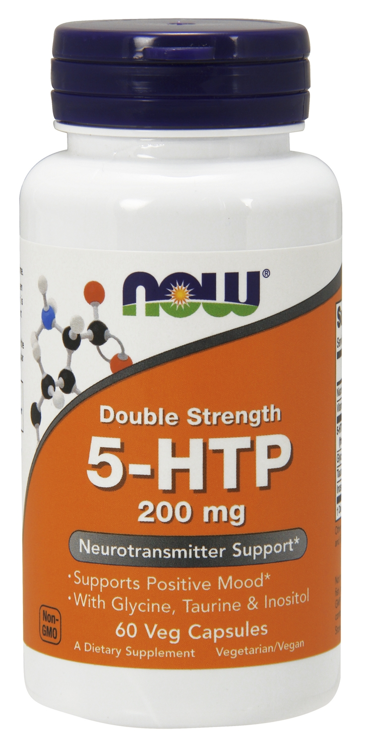 5-HTP 200 mg 60 Vcaps by NOW