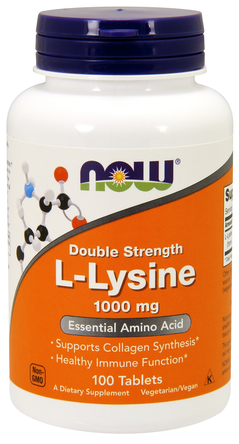 L-Lysine 1,000 mg 100 tabs by NOW