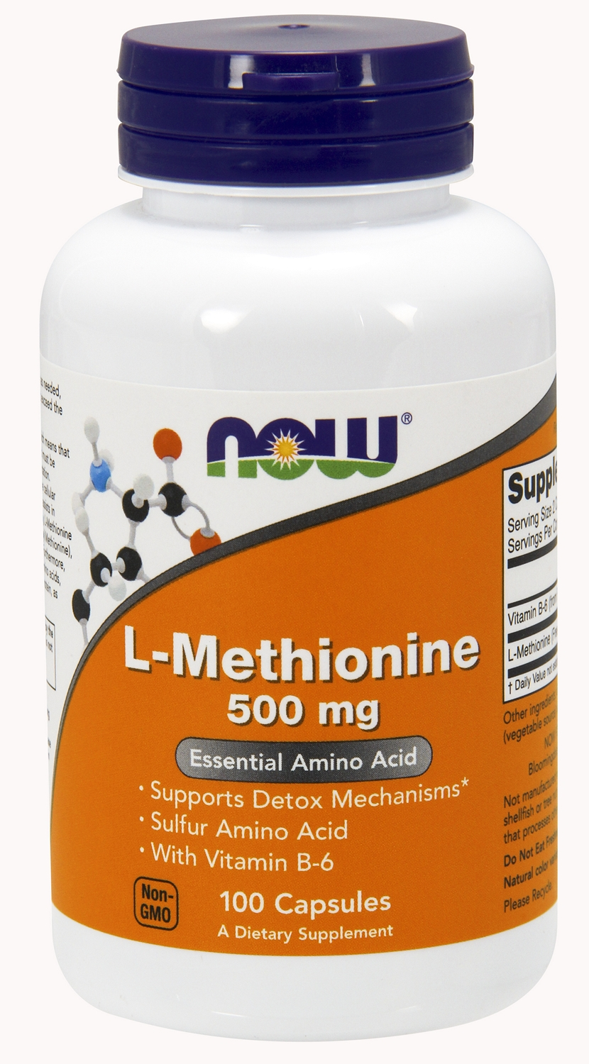 L-Methionine 500 mg 100 caps by NOW
