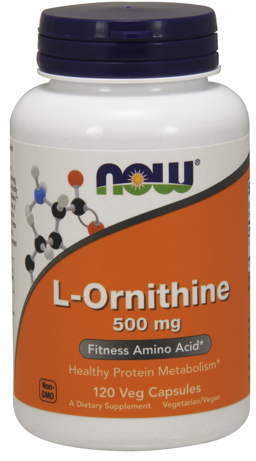 L-Ornithine 500 mg 120 caps by NOW