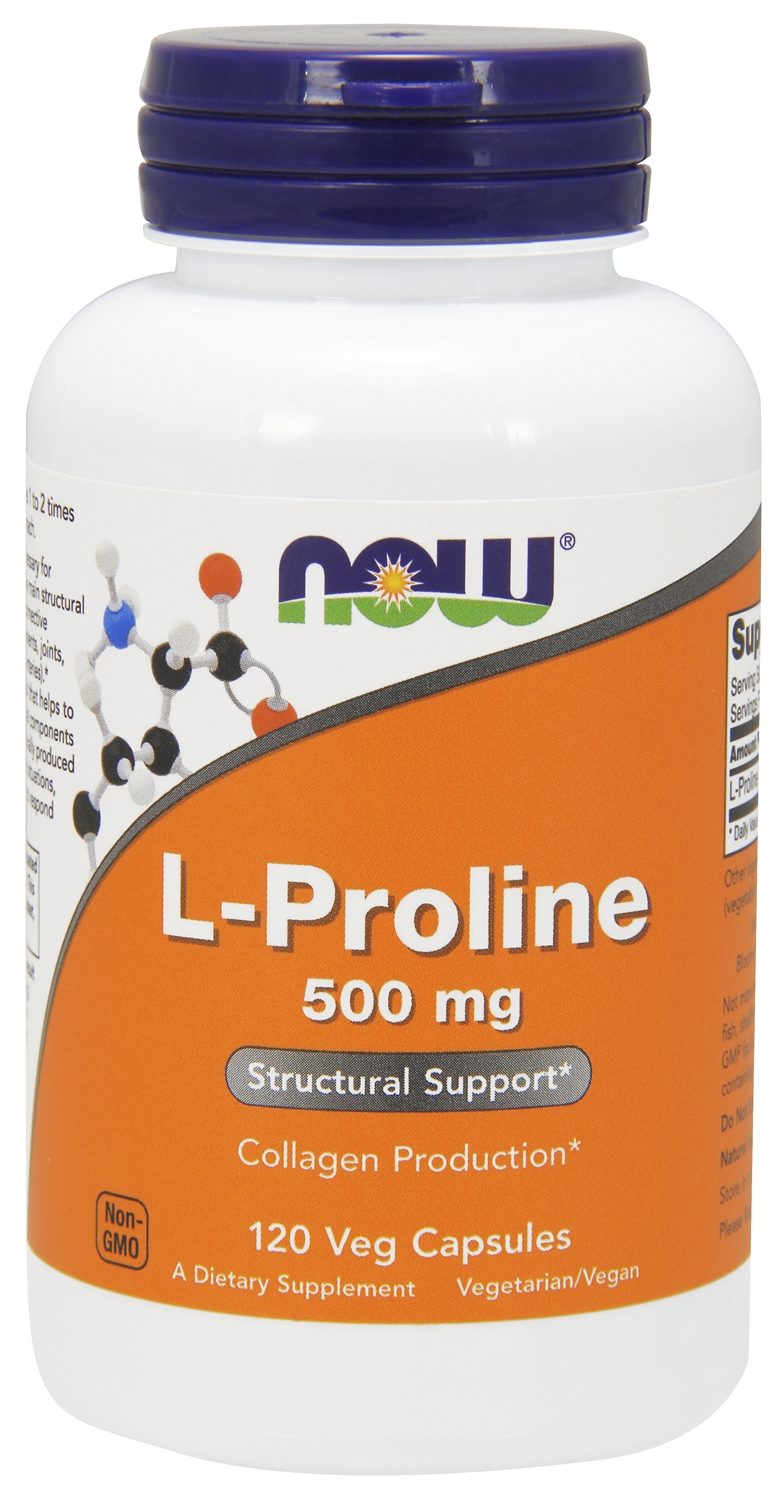 L-Proline 500 mg 120 Vcaps by NOW