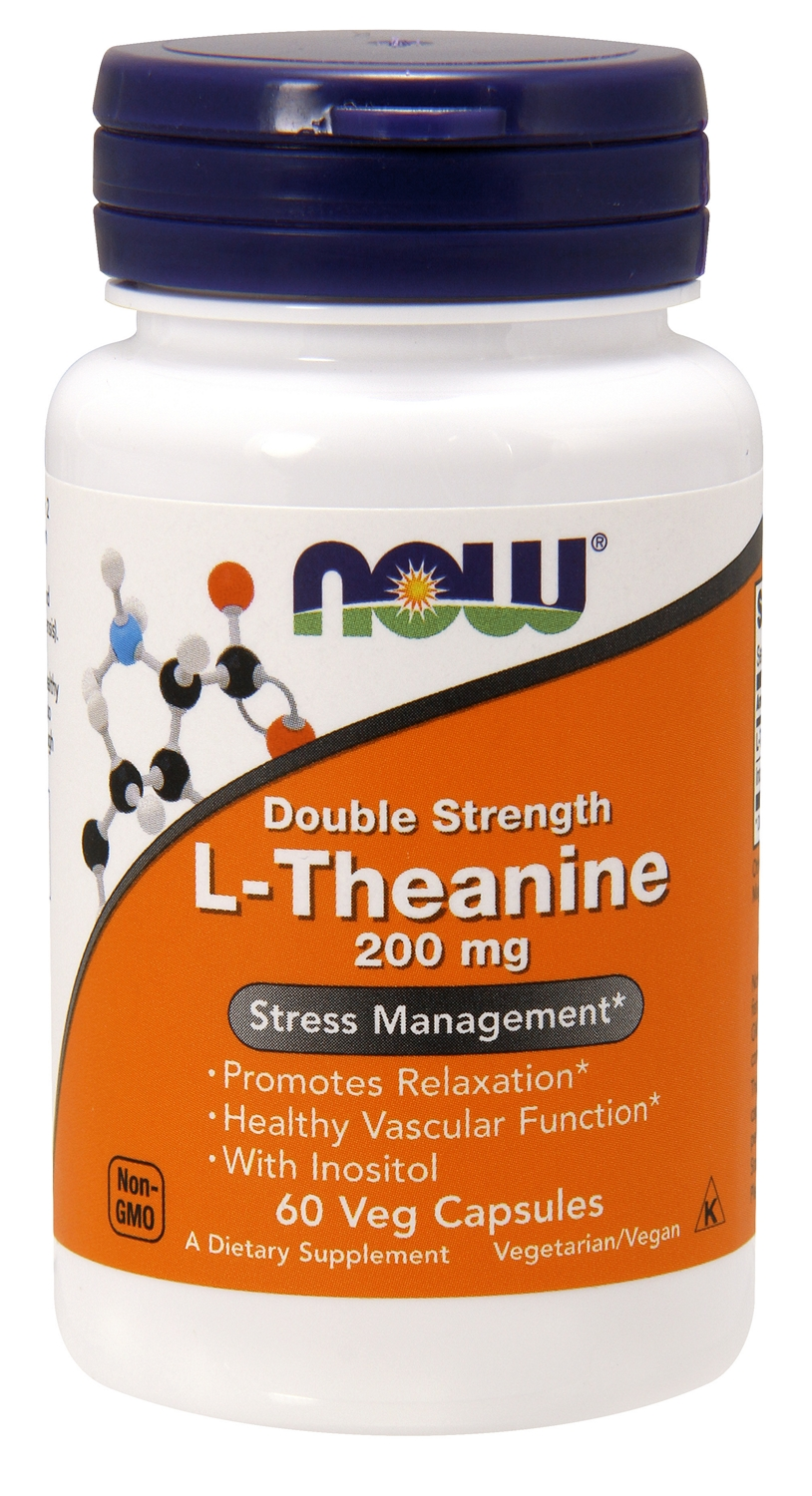 L-Theanine Double Strength 200 mg 60 Vcaps by NOW