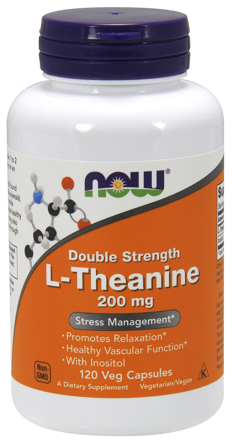 L-Theanine Double Strength 200 mg 120 Veg caps by NOW