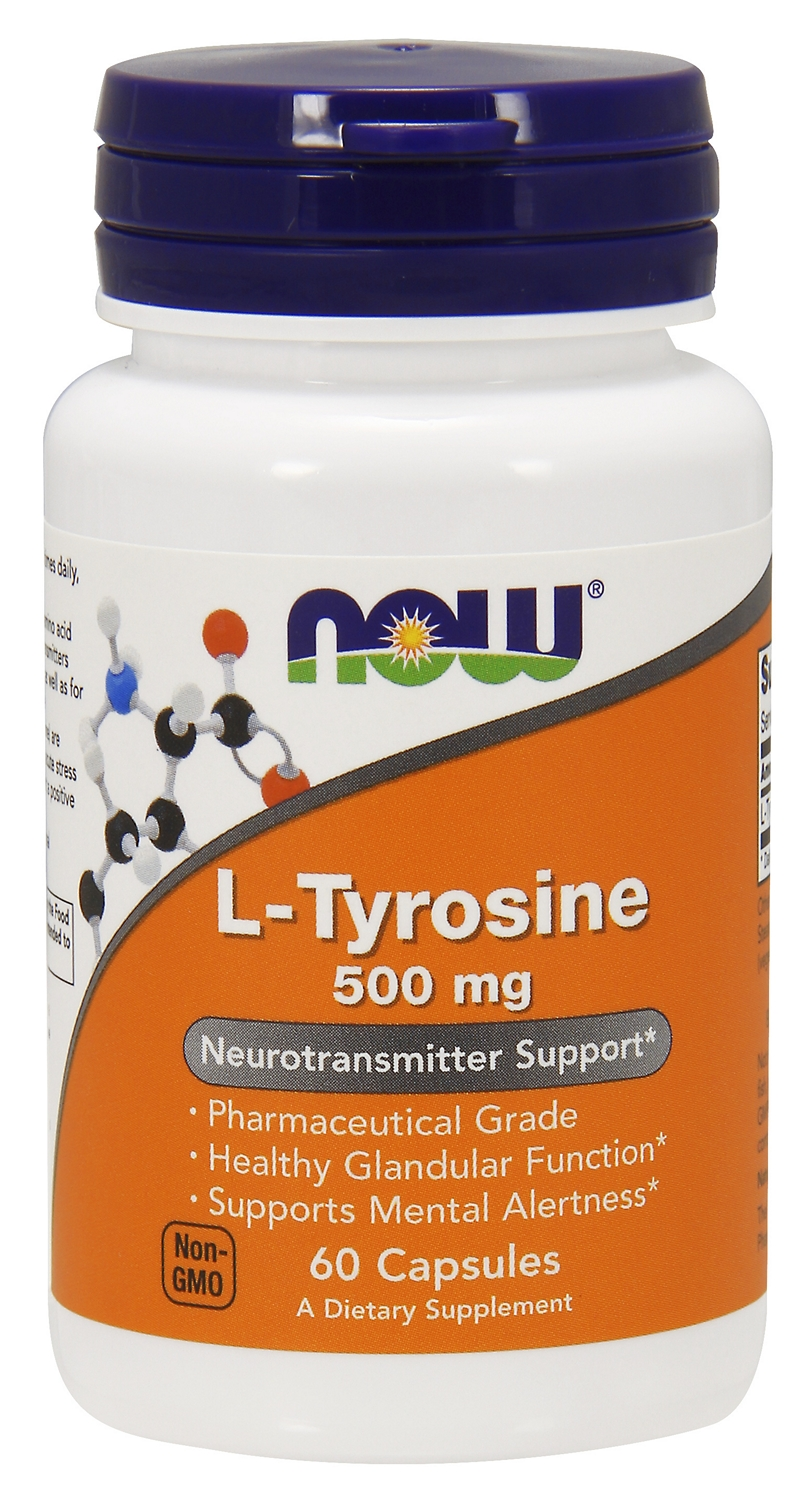 L-Tyrosine 500 mg 60 caps by NOW Foods
