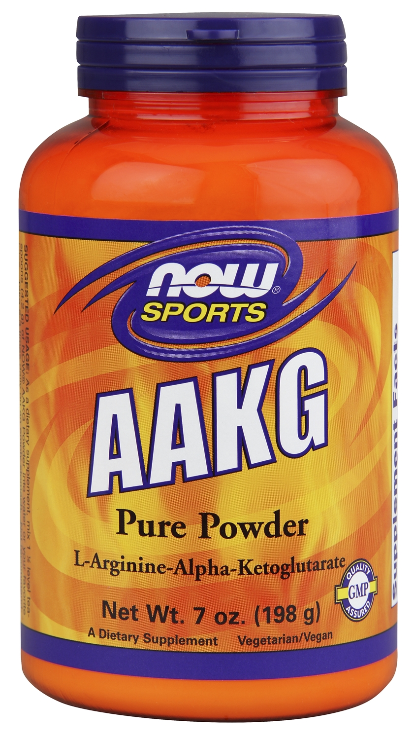 AAKG Powder Unflavored 7 oz (200 g) by NOW
