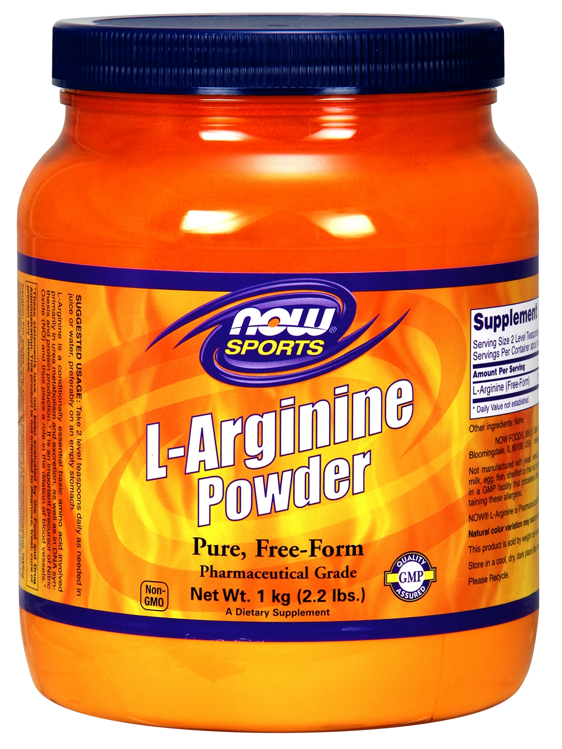 L-Arginine Powder 1 kg (2.2 lbs) by NOW Foods