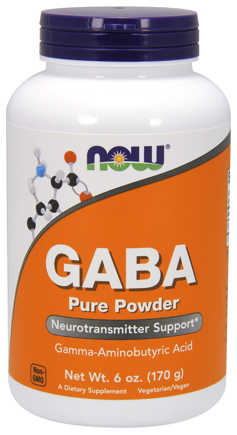 GABA 100% Pure Powder 6 oz (170 g) by NOW