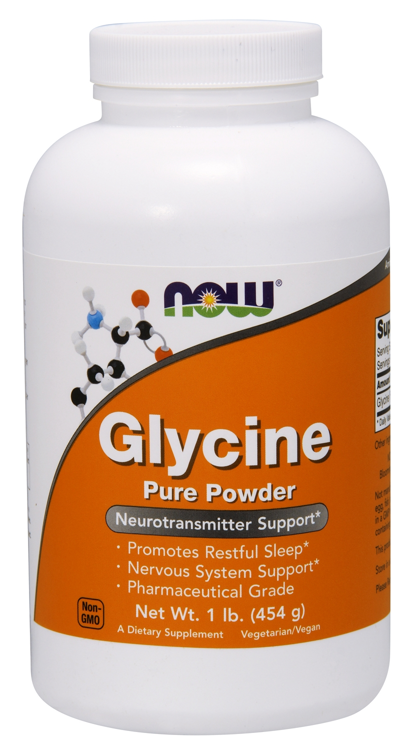 Glycine 100% Pure Powder 1 lb (454 g) by NOW