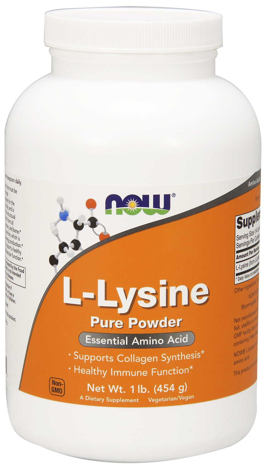 L-Lysine Powder 1 lb (454 g) by NOW