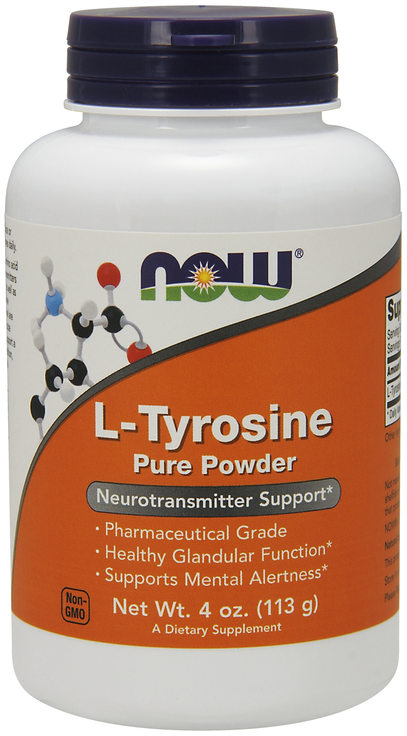 L-Tyrosine 100% Pure Powder 4 oz (113 g) by NOW
