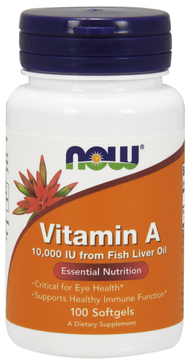 Vitamin A 10,000 IU 100 sgels by NOW