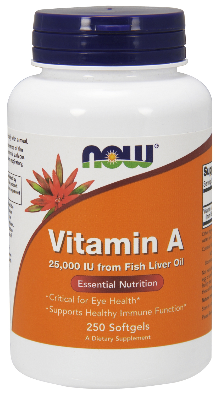 Vitamin A 25,000 IU 250 sgels by NOW