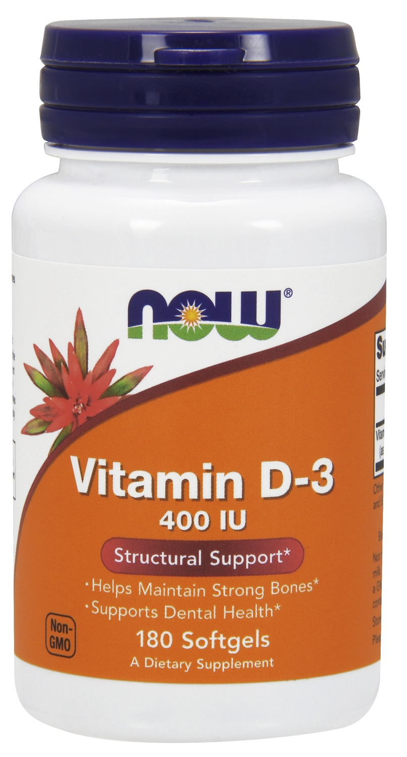 Vitamin D-3 400 IU 180 sgels by NOW