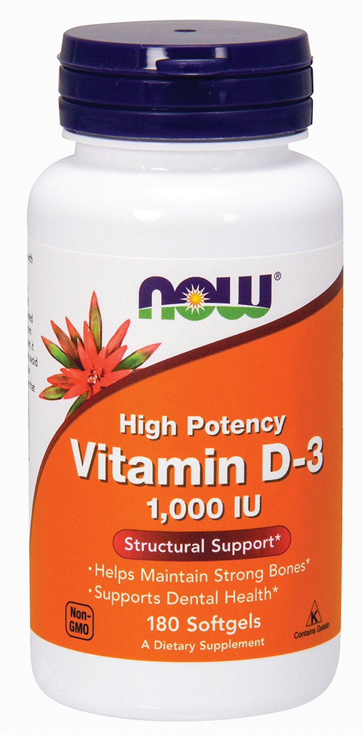 Vitamin D-3 1,000 IU 360 sgels by NOW