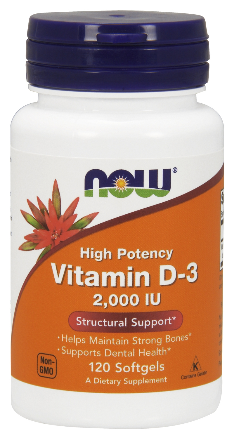 Vitamin D-3 2,000 IU 240 sgels by NOW