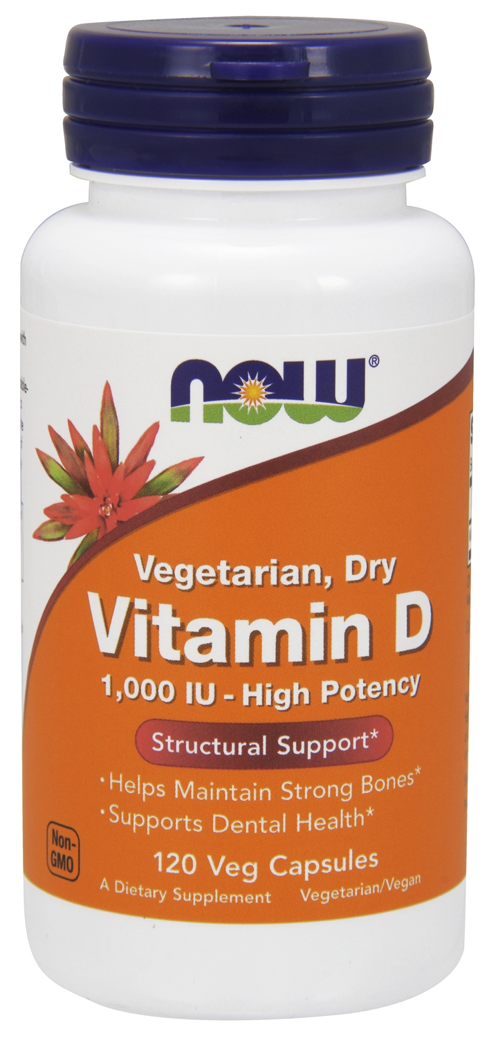 Vitamin D 1,000 IU 120 Vcaps by NOW