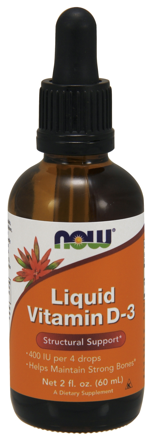 Liquid Vitamin D-3 2 fl oz (60 mL) by NOW