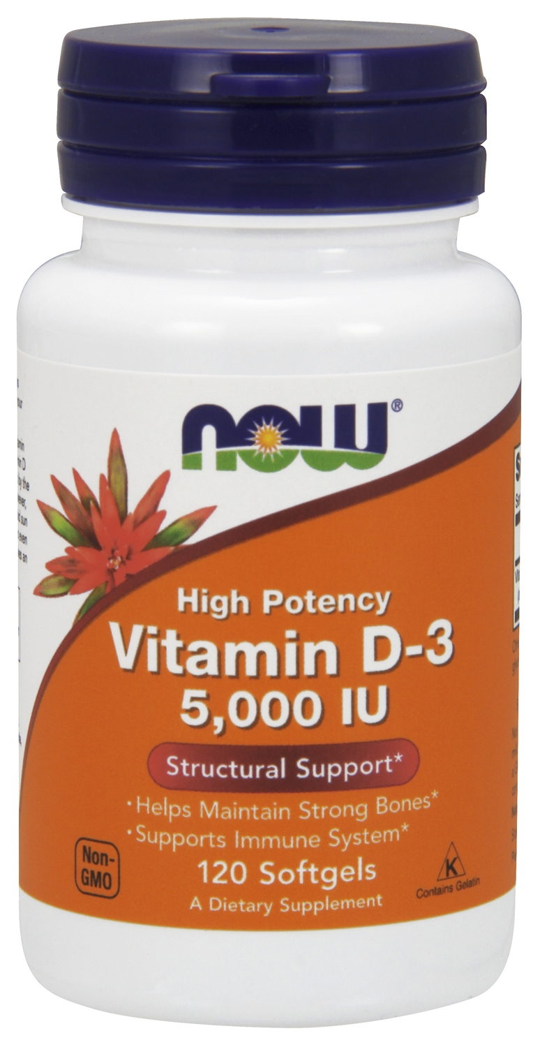 Vitamin D-3 5,000 IU 240 sgels by NOW