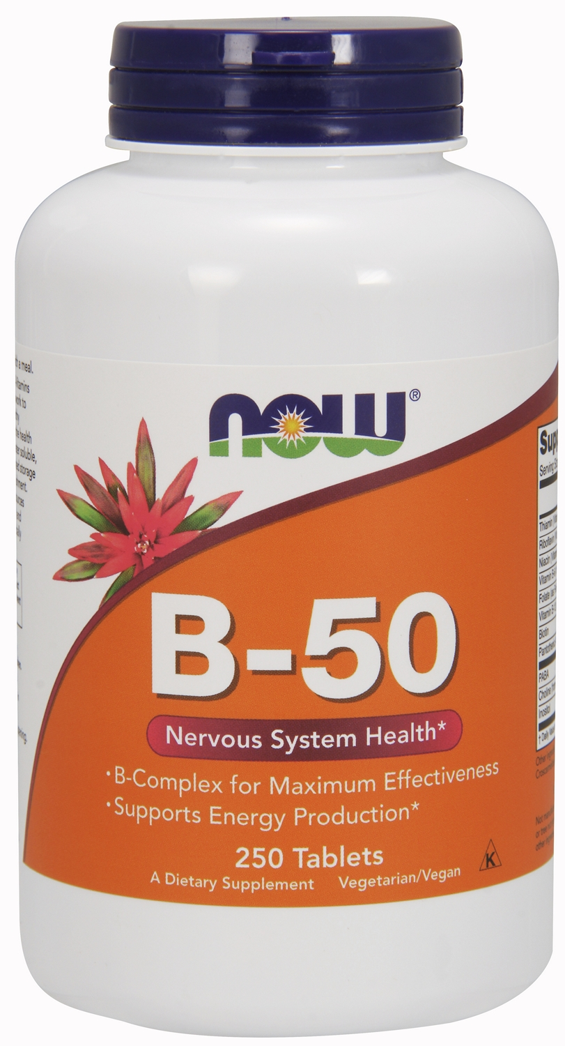 B-50 Vitamin B Complex 250 tabs by NOW