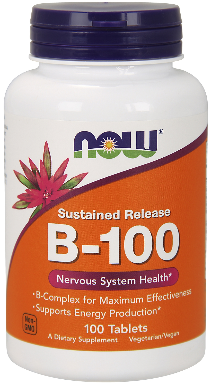 Vitamin B-100 Sustained Release 100 tabs by NOW