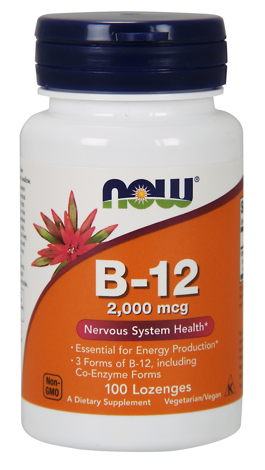 B-12 2,000 mcg 100 Lozenges by NOW