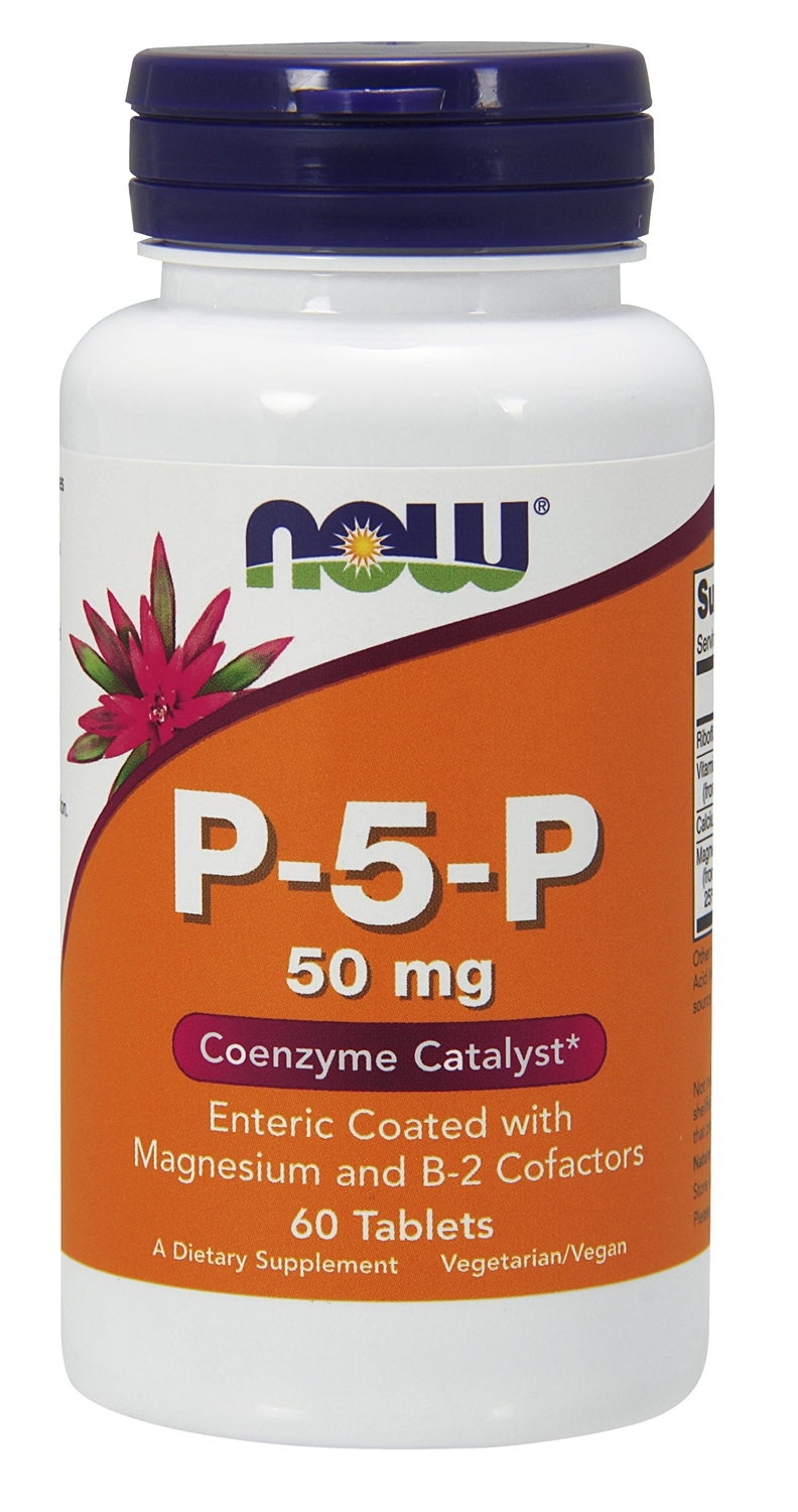 P-5-P (Coenzyme B6) 50 mg 60 tabs by NOW