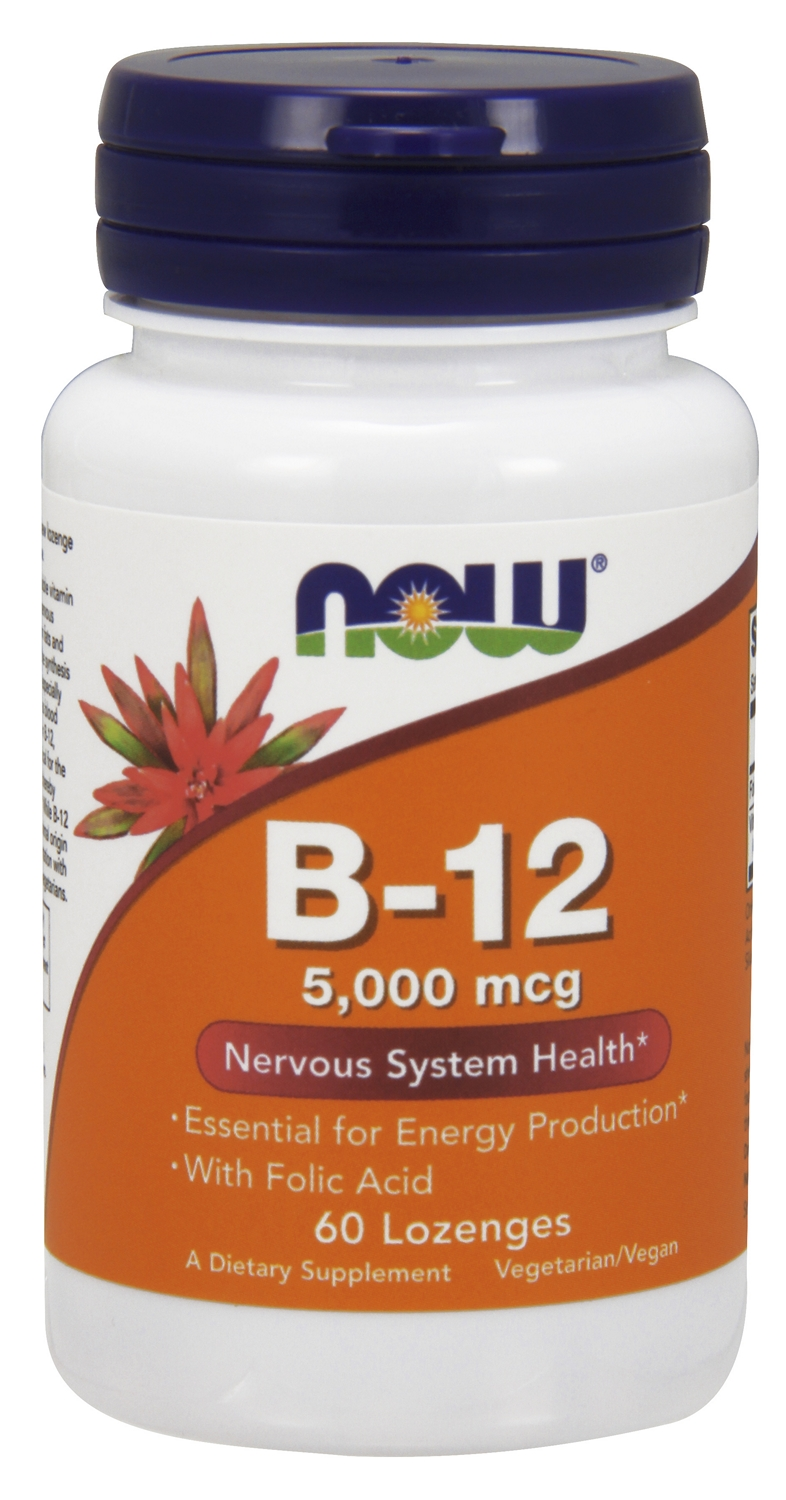 B-12 5,000 mcg 60 Lozenges by NOW