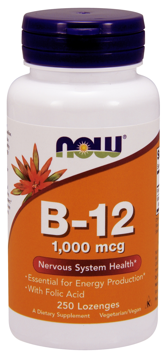B-12 1,000 mcg 250 Lozenges by NOW