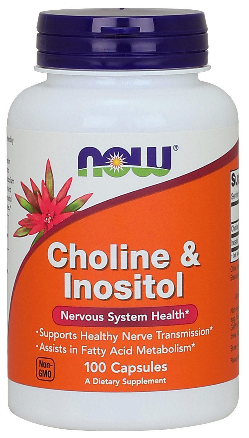 Choline & Inositol 500 mg 100 caps by NOW