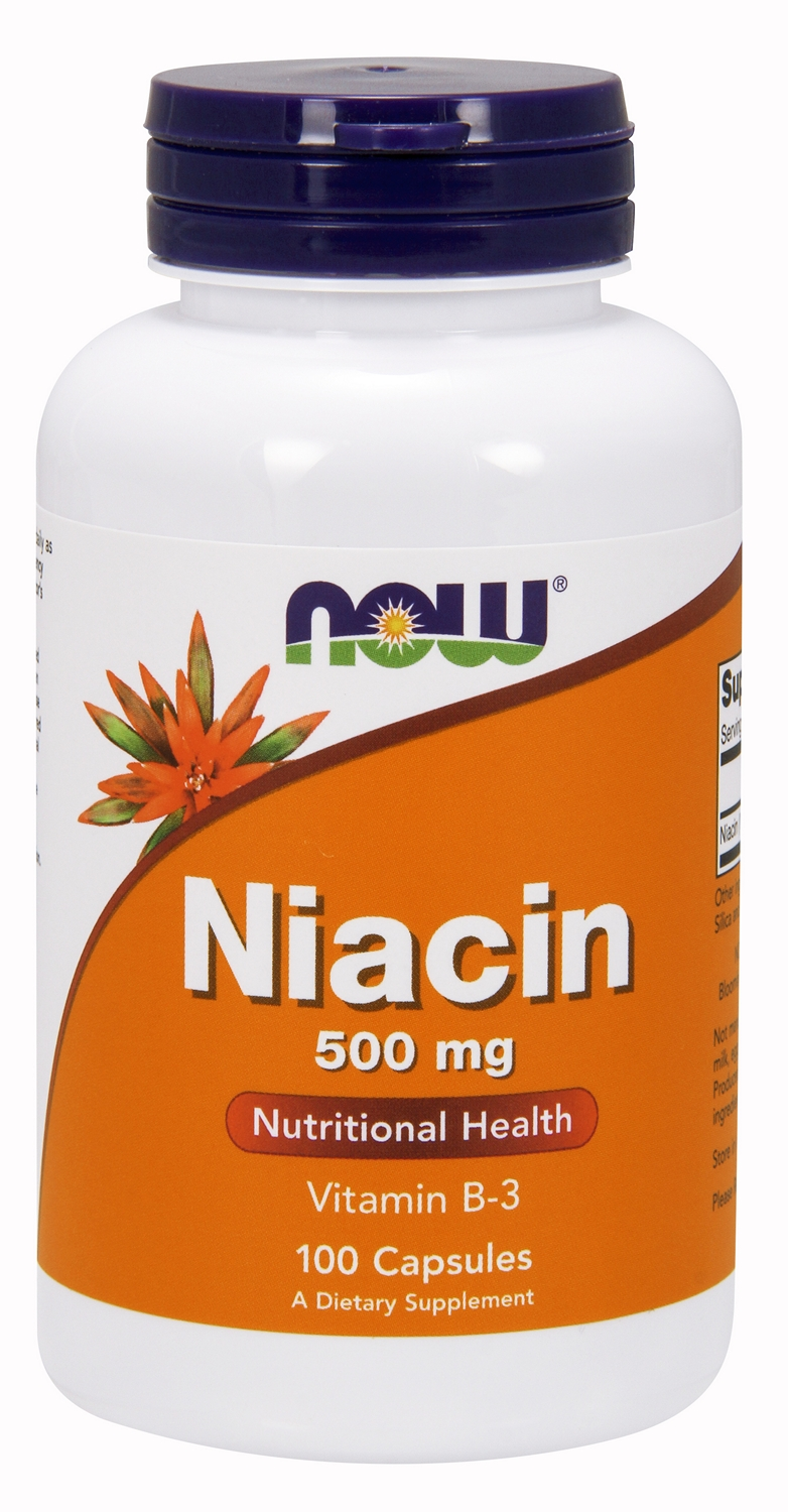 Niacin 500 mg 100 caps by NOW